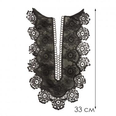 Вставка кружевная, цвет черный
