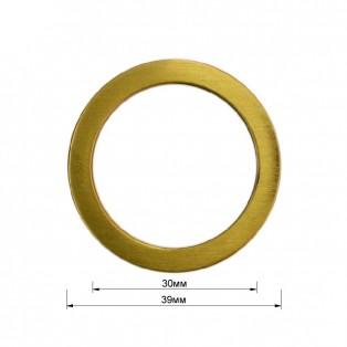 Кольцо металлическое, 3см, цвет тертый антик