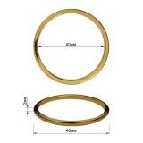Кольцо металлическое, 4см, цвет золото