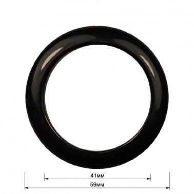 Кольцо пластиковое, 4см, цвет черный