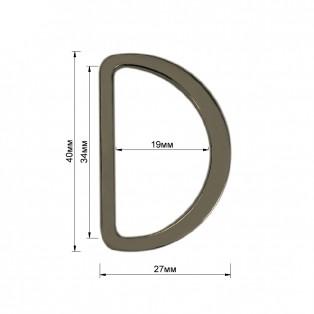 Полукольцо металлическое, 3,5см, цвет оксид