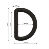 Полукольцо пластиковое, 2,8см, цвет черный