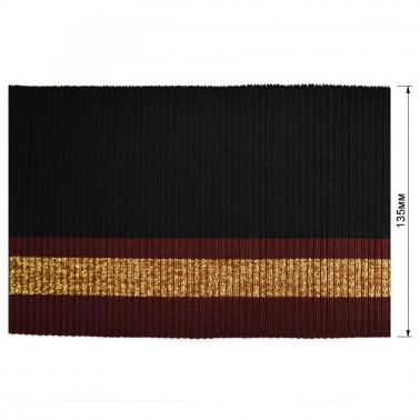Довяз (манжета), цвет бордо+золото+черный