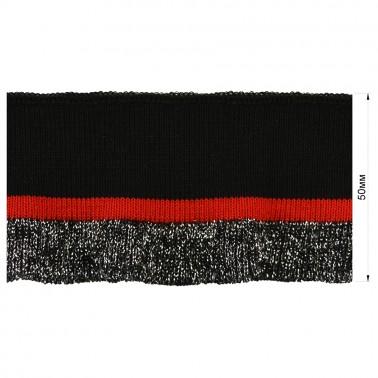 Довяз (манжета), цвет черный+красный+серый