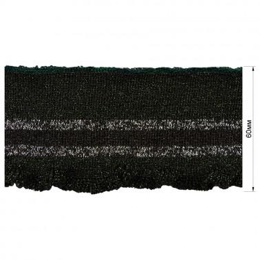 Довяз (манжета), цвет темно-зеленый+черный+люрекс