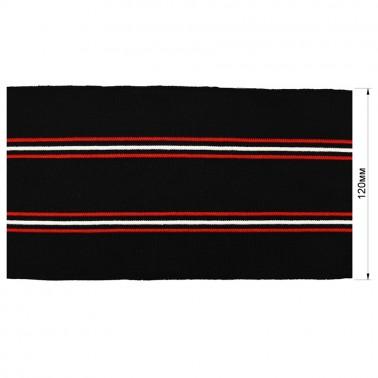 Довяз (манжета), цвет черный+красный+белый