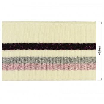 Довяз (манжета), цвет молочный+черный+серый+розовый+люрекс