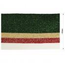 Довяз (манжета), цвет  зеленый+бежевый+красный+белый+люрекс