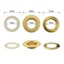Люверс(блочка) металлический, 15*30мм, цвет матовый золото