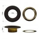 Люверс(блочка) металлический, 8*14мм, цвет черный тач