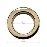 Люверс(блочка) металлический, 26*40мм, цвет никель