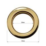 Люверс(блочка) металлический, 26*40мм, цвет золото