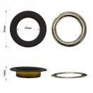 Люверс(блочка) металлический, 26*40мм, цвет черный тач