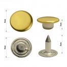 Хольнитен металлический,  8мм, цвет желтое золото