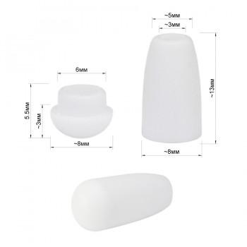 Наконечник пластиковый, концевик фурнитура для одежды, цвет белый