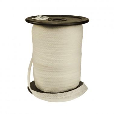 Лента флизелиновая прошитая по косой с ниткой 1.2см, цвет белый