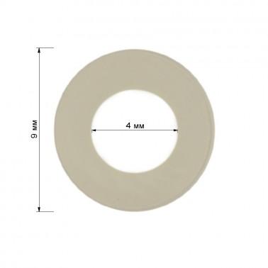 Уплотнительное кольцо для кнопки, пластик, 12,5-15мм, цвет прозрачный