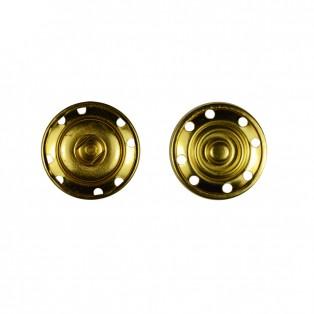 Кнопка металл, пришивная,25мм цвет золото