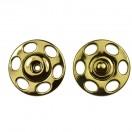 Кнопка металлическая, пришивная, 23мм, цвет золото
