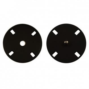 Кнопка металл, пришивная,30мм цвет черный