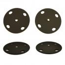 Кнопка металл, пришивная,40мм цвет черный