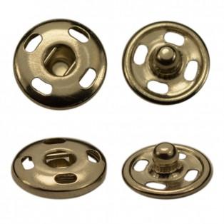 Кнопка металл, пришивная,10мм цвет никель