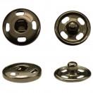 Кнопка металл, пришивная,10мм цвет оксид