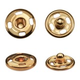 Кнопка металл, пришивная,10мм цвет медь