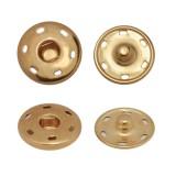 Кнопка металл, пришивная, 25мм цвет  медь