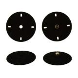 Кнопка металл, пришивная,23мм цвет черный бархат+оксид