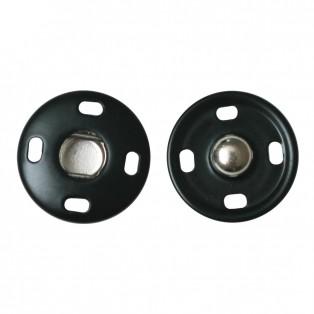 Кнопка металл, пришивная,18мм цвет черный+никель