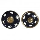 Кнопка металл, пришивная,18мм цвет золото+т.синий