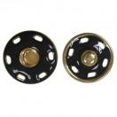 Кнопка металлическая, пришивная,23мм цвет золото+черный