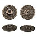 Кнопка металл, пришивная,23мм цвет оксид