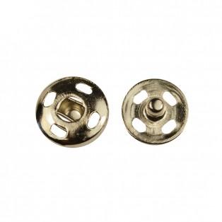 Кнопка металл.,пришивная,14мм цвет никель
