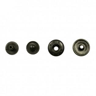 Кнопка установочная металлическая, 12мм цвет оксид