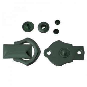 Кнопка установочная металлическая, 37*27мм цвет оксид