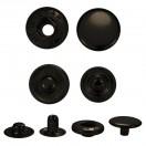 Кнопка установочная металлическая, 15мм цвет черный