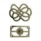 Кнопка установочная металлическая, 35*45мм цвет никель