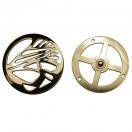 Кнопка установочная металлическая, 60*60мм цвет золото