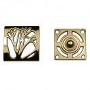 Кнопка установочная металлическая, 25*25мм цвет золото