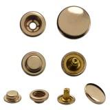 Кнопка установочная металлическая, кольцевая,15мм цвет никель