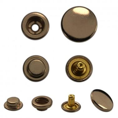 Кнопка установочная металлическая, кольцевая,15мм цвет оксид