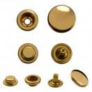 Кнопка установочная металлическая, кольцевая,15мм цвет золото