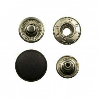 Кнопка установочная металл+пластик,17мм цвет черный