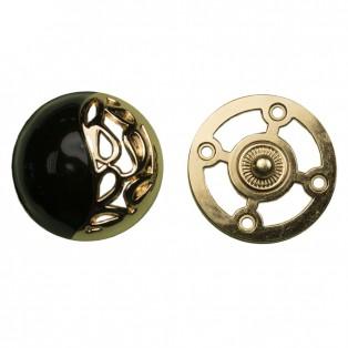 Кнопка установочная металлическая, 30*30мм цвет золото