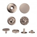 Кнопка установочная металлическая, 15мм цвет матовый серебро