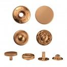 Кнопка установочная металлическая, 15мм цвет матовое золото