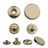 Кнопка металл, пробивная, усиленная,  цвет никель