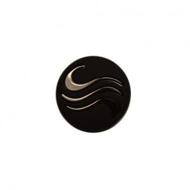 Кнопка установочная металлическая, 21мм, цвет оксид+черный